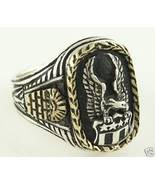10k Gold wreath Seal of United States silver Eagle ring - $139.00