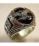 Roman Tribune Eagle mens Coin ring Sterling Silver - $79.00