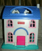 """Fisher Price two story house building only in clean good shape 14"""" x 13""""... - $15.94"""