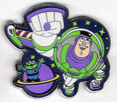 Disney Toy Story Buzz Lightyear and Alien Pin/Pins