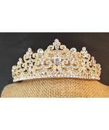 Brillaint Bridal Gold PlatedAustrian Crystal Tiara Style T-010-B  - $34.50