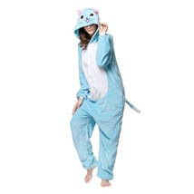 Adults' Kigurumi Pajamas Cat Onesie Pajamas Flannel Toison Blue Cosplay ... - $3.99+