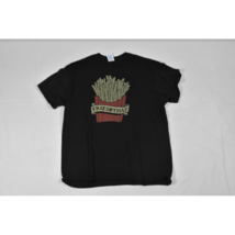 Womens Delta Pro Weight Fries with That T Shirt Size L Black Large Logo - $9.79