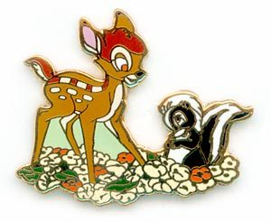 Disney WDCC Bambi and Flower pin/pins