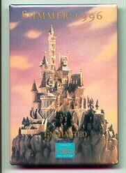 Disney WDCC Beauty & Beast Castle Dated 1996 button pin/pins