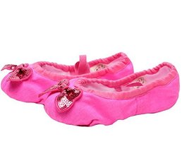Ballet Shoes/Dance Shoes For Pretty Girl (21.5CM Length) Rose Red Bowknot