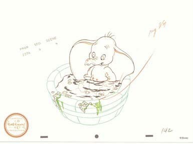 Disney WDCC Dumbo Sketch Numbered never sold