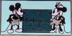 Disney WDCC  Mickey & Minnie black & White  Pin/Pins
