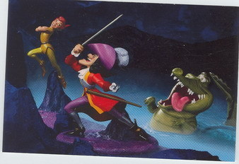 Disney WDCC Peter Pan Capt Hook Crock the Duel Promotional Print