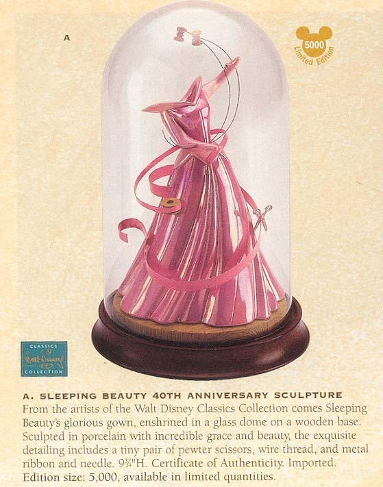 Disney WDCC Sleeping Beauty Dress Figurine Ship World