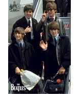 THE BEATLES ~ FLEW IN FROM 24x36 MUSIC POSTER John Lennon Paul George Ringo - $21.00