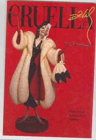 Disney WDCC Villain Cruella De Vil Promotional Print