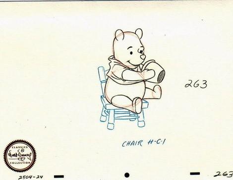 Disney WDCC  Winnie The Pooh Sketch NUMBERED