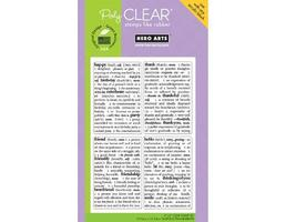 Hero Arts Dictionary Greetings Clear Cling Stamp Set #CL479 - $11.99