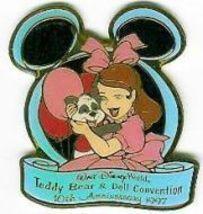 Disney WDW 10th Anniv Teddy Bear & Doll  Event pin/pins - $19.14