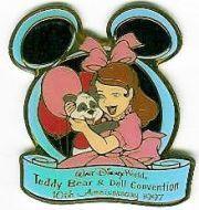 Disney WDW 10th Anniv Teddy Bear & Doll  Event pin/pins