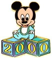 Disney WDW - Baby Blocks Mickey Mouse pin/pins