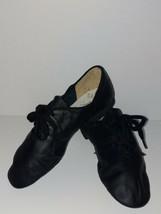 Capezio 341C Black Lace Leather Split-Sole Jazz Shoes Child Size 12.5M 1... - $39.09
