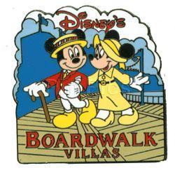 Disney WDW Boardwalk Villas Mickey & Minnie  pin/pins