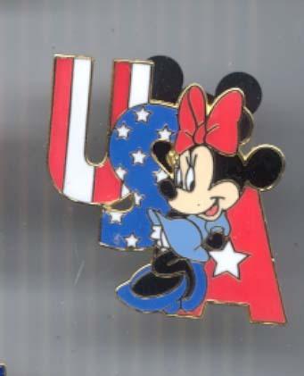 Disney WDW Cast Lanyard Minnie USA  Patriotic  pin/pins