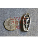 Pewter Voodoo Coffin Amulet Necklace Pendant Charm - $7.85