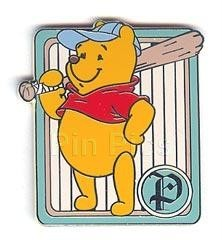 Disney WDW Cast Lanyard Winnie Pooh baseball with bat never sold pin/pins