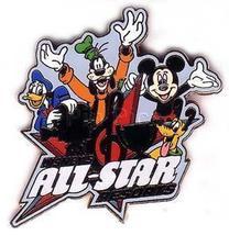 Disney WDW Disney's All Star Resorts (FAB 4)  pin/pins - $22.09
