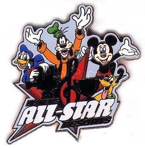 Disney WDW Disney's All Star Resorts (FAB 4)  pin/pins