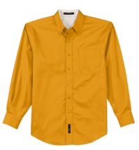 Port Authority Men's Long Sleeve Athletic Gold Easy Care Button Down - M
