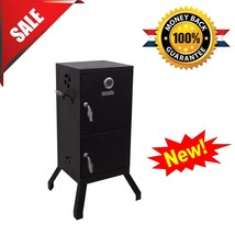 Barbecue Meat Smoker Vertical Charcoal BBQ Grill Cooker Patio Outdoor Ba... - $93.01