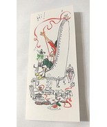 Vintage Hallmark Girl Lady Cat Musical Notes UNUSED Christmas Card With ... - $7.91