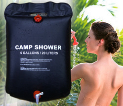 5 Gallon Portable Solar Heated Camping Shower Water Bathing Bag !  - $19.99