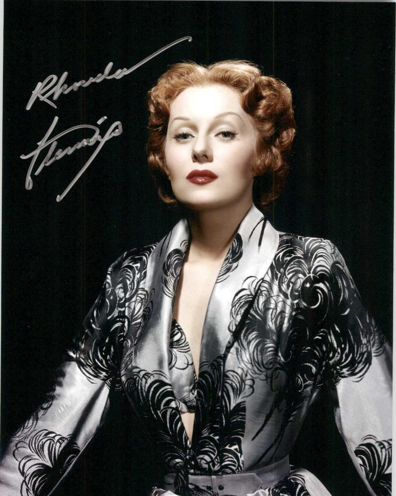 Primary image for Rhonda Fleming Signed Autographed Glossy 8x10 Photo