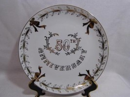 """vintage LEFTON China 50th Wedding Anniversary collectible 10"""" PLATE - $18.99"""