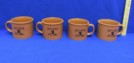 Field and Stream Large Coffee Cups Mugs Soup Terra Cotta Brown Color Set... - $18.80