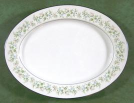 "Noritake Japan Savannah 2031 Oval Platter 14"" Platinum Trim EUC - $22.00"