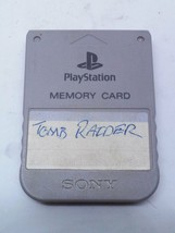 Sony PlayStation 1 Memory Card SCPH-1020 Gray - $11.30 CAD