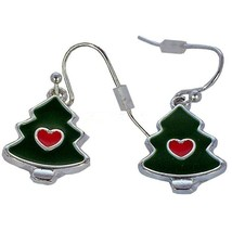 Avon Holiday Dangle Earrings Christmas Tree - $13.86