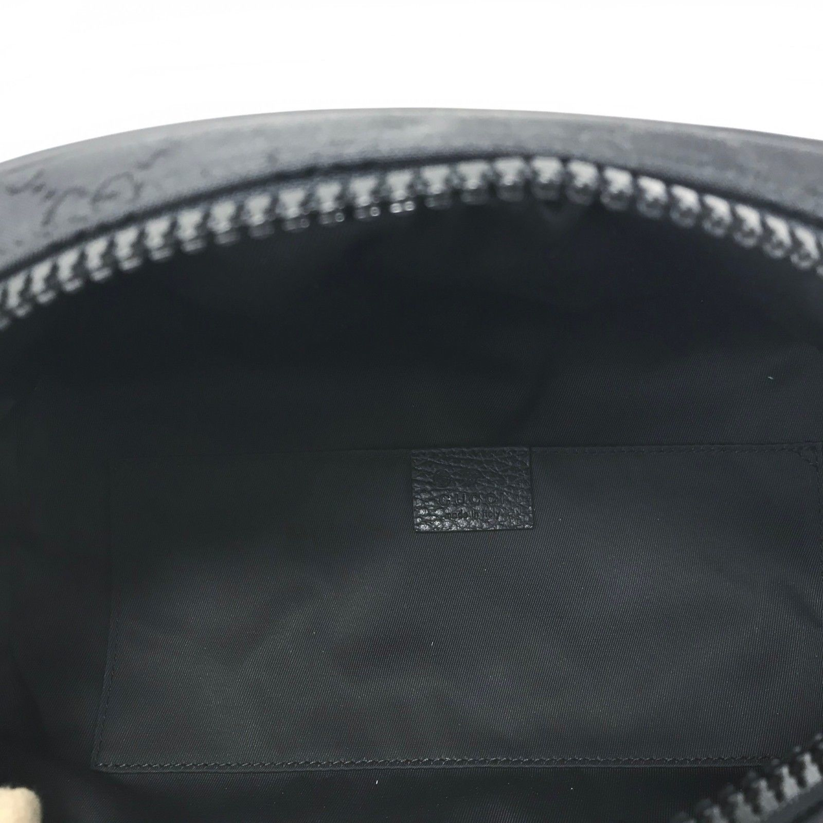 263ee54edac860 NWT GUCCI 449182 GG Guccissima Black Nylon w/ Web Stripe Strap Belt Bag