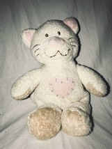 """Ty Pluffies Kittyhugs Cream Kitty Cat 9"""" Plush Stuffed Toy Patchwork Pin... - $11.91"""