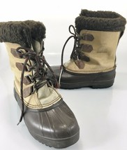 Sorel Womens 8 Alpine Tan Brown Insulated Rubber Winter Duck Boots - $82.81
