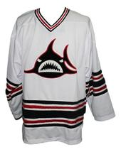 Custom Name # Los Angeles Sharks Hockey Jersey 1973 New White Any Size image 3