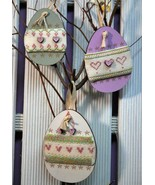 Purple Eggs Cross Stitch Kit wooden cross stitch The Bee Company - $13.50