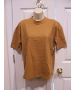 NEW IN PKG STYLES TO GO cotton BLEND MAPLE HONEY OVERSIZE short Sleeve t... - $12.86
