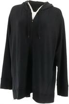 Cuddl Duds Soft Comfort Full Zip Hooded Sweatshirt Black S NEW A301275 - $13.83