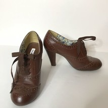 "American Eagle Oxford Heels Size 7W Brown 3.5"" Heel - $38.49"