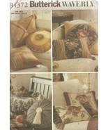 Waverly Pillows Home Decor Sewing Pattern Butterick 4372 UNCUT - $5.99