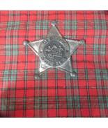 Vintage Toy Tin Badge Deputy Sheriff Western Cowboy, Make Do Tin, Neat B... - $13.09