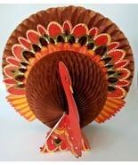 Vintage Thanksgiving Decor Turkey Centerpiece HoneyComb Pop-Up Decoration Paper - $24.74