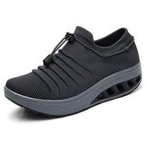 ZYEN Women Light Walking Tennis Shoes Fashion Platform Sock Sneakers Com... - $32.85
